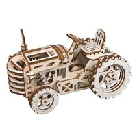 Creative DIY Gear Drive Tractor 3D Wooden Model Building Kits Toys Hobbies Gift For Children Adult LK401