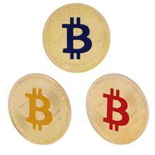 Позолоченные памятные монеты биткоины Коллекционная художественная коллекция сувенир