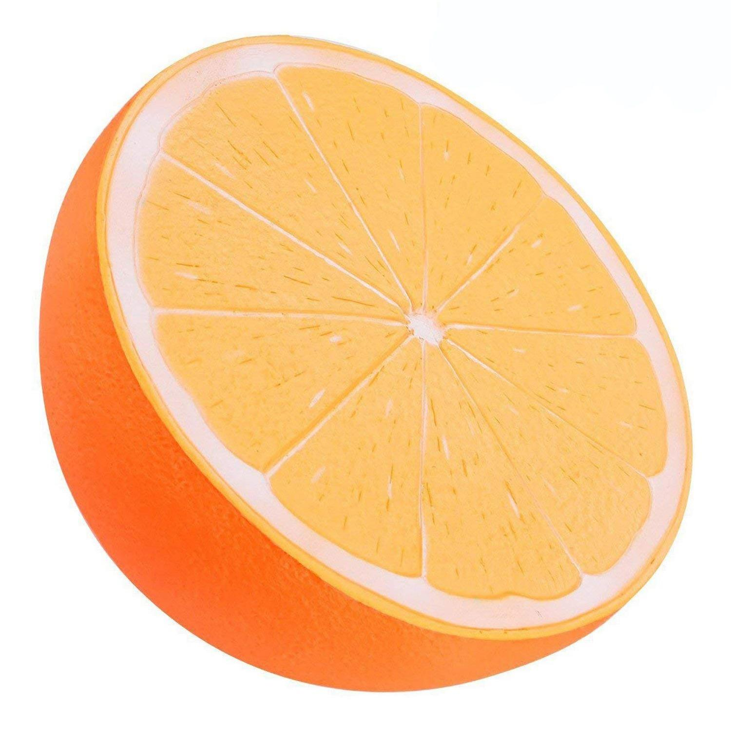 Slow Rising Toy, 10 Inch Jumbo Orange Squishy Cream Scented Simulation Cute Fruit Squeeze Toys For Collection Gift, Decorative