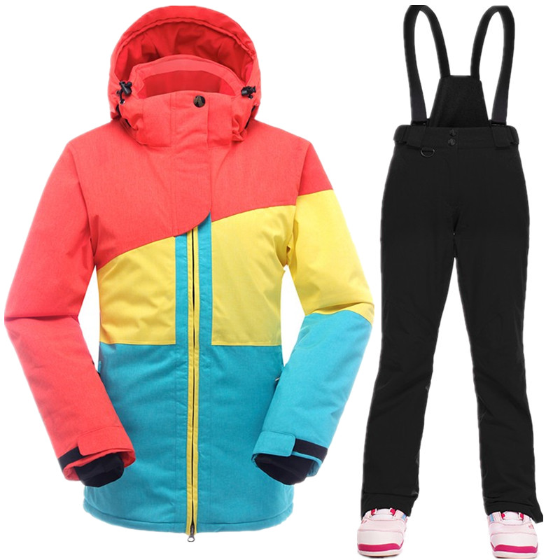 SAENSHING chaud Ski costume femmes hiver Ski veste snowboard costumes imperméable 10 K respirant neige extérieur Ski de montagne ensemble - 4