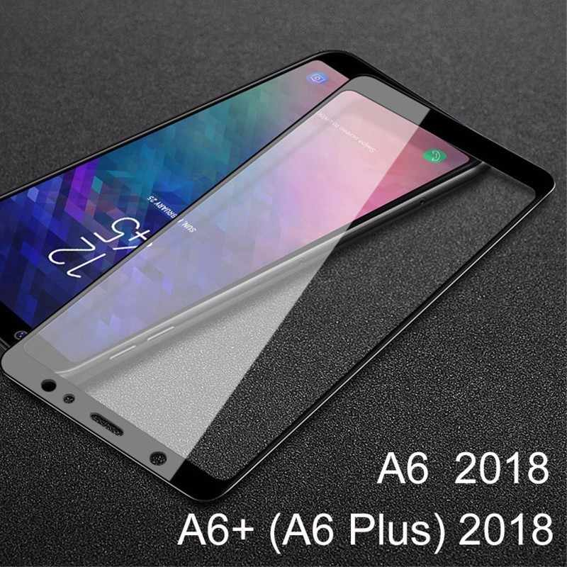 2Pcs/Lot A62018 Case Protective Glass On the for Samsung Galaxy A6 Plus  A600 A605F A 6 SM-A600F SM-A605F Full Tempered Glass A6