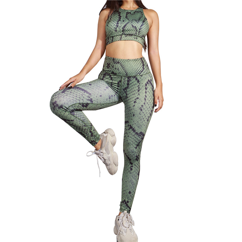 NORMOV Summer Suits For Women Snake Print 2 Piece Set Women Sexy Shorts And Top  Sport Customs Tracksuit For Women Clothes 2019