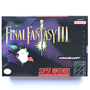 Final Fantasy III game cartridge with box for ntsc console