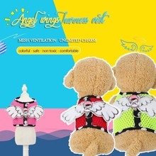Angel Wings Small Dog Harness Vest Pitbull Breathable Mesh Fabric Puppy Beagle Pet Accessories Cats Products For Pets