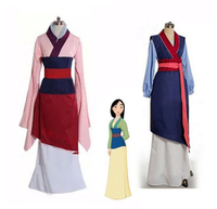 Movie Hua Mulan Dress Blue /red Dress Princess Dress girl/women kids adult Cosplay Costume Custom Made Halloween stage costume