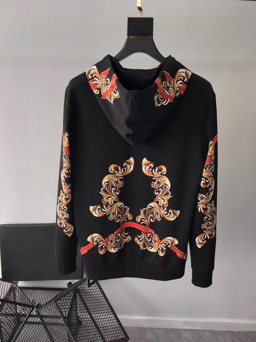 2019 Spring New Fashion Arrival Flower Floral Leopard Print Retro Vintage Sweatshirts Hoodies Men Designer Clothing - 4