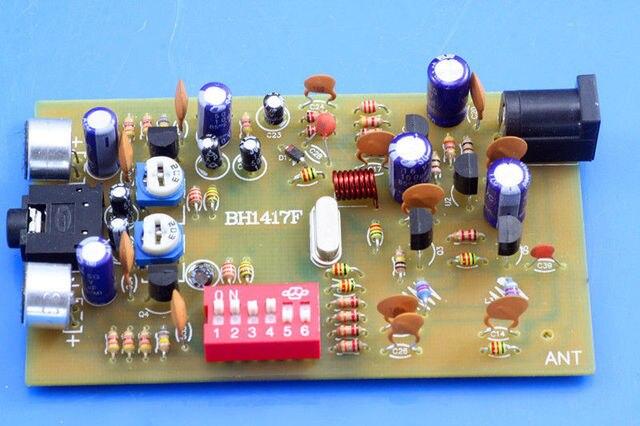 Transmissor digital bh1417f 0.1w fm, estação de rádio pll, reprodutor de música estéreo, fm 87.7mhz 107.9 mhz, frequência diy kits para amplificador