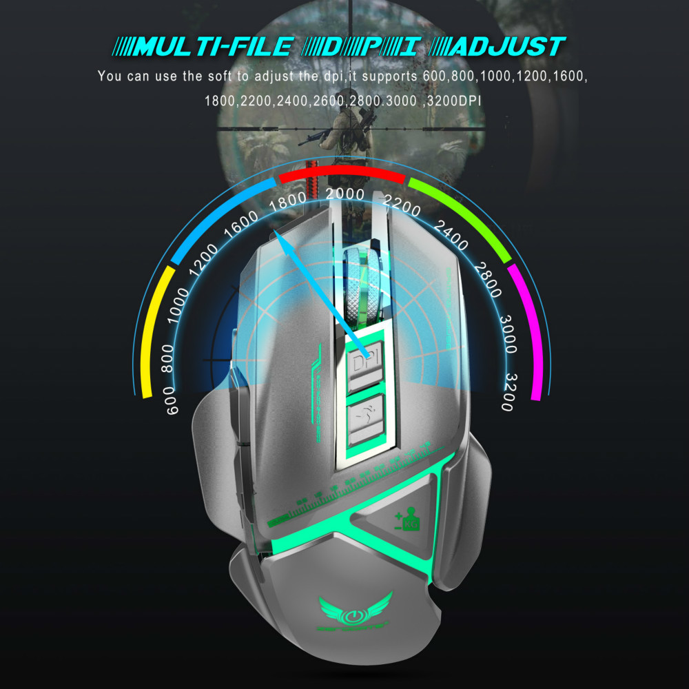 Professional Gaming Mouse 11buttons USB Wired Optical Gaming Mice 3200 DPI Game Macro Programming Mouse for PC Laptop Games Mice in Mice from Computer Office