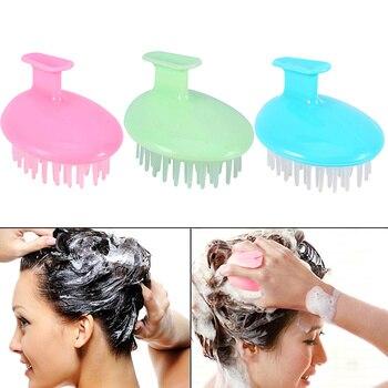 1 pc Scalp Massager Shampoo Brush Soft Silicone Massage Head for Hair Growth Dandruff Stress Release Scalp Care Brush