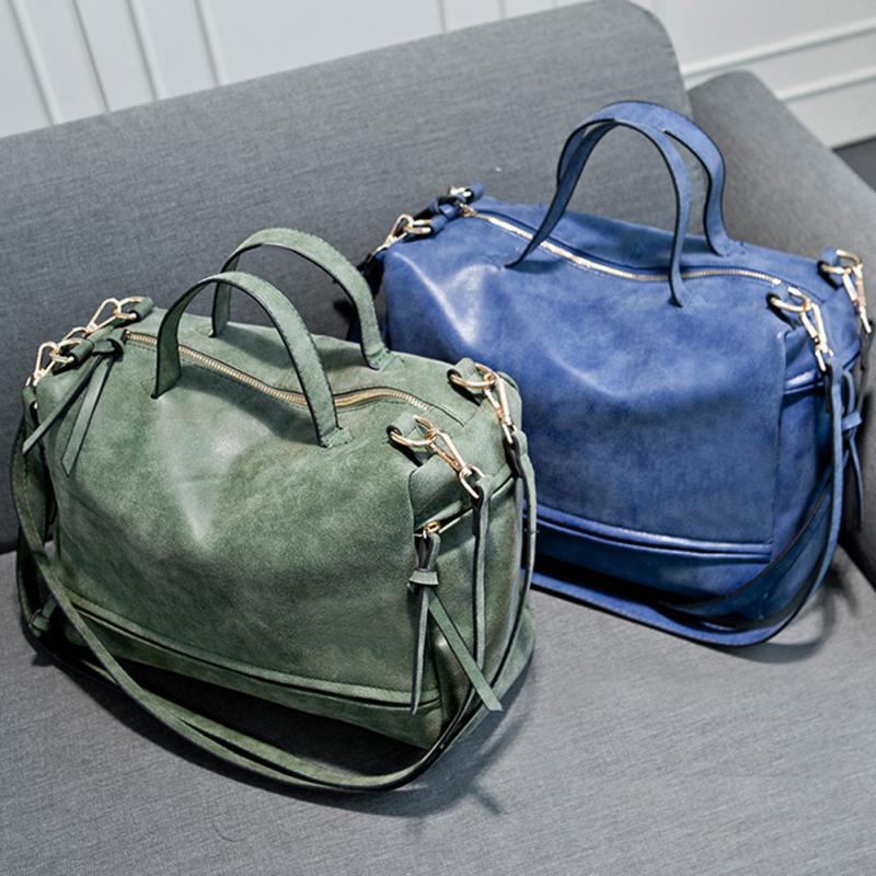 Women Messenger crossbody Bag Matte Leather Nubuck Leather Handbag Vintage Solid tote Single Shoulder Bag* 4