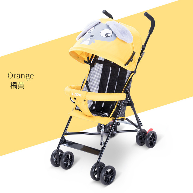 Ultra-light baby stroller  New Style Summer Stroller  Cartoon baby can sit and lying stroller 3.8kg travel Umbrella carts