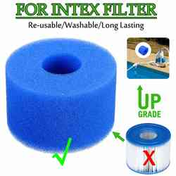 10,8x4x7,3 см плавательный бассейн фильтр пены Многоразовые моющиеся губка картридж пена подходит пузырь летают Pure SPA для Intex S1 Тип