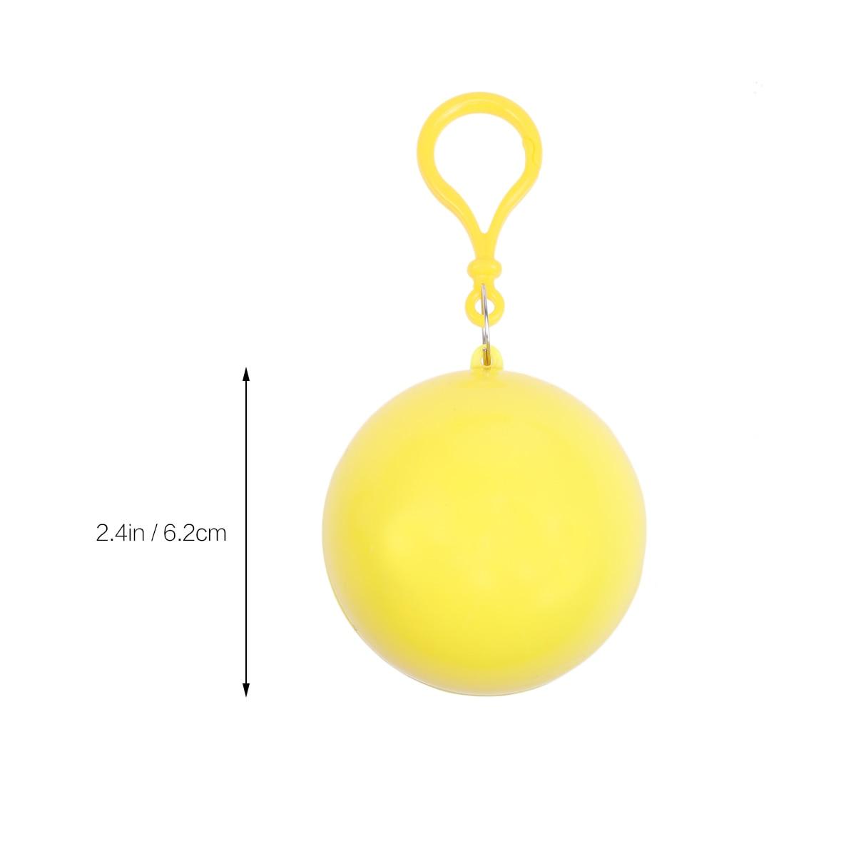 Creative Rainwear Raincoat Disposable Camping Rain Poncho in a Ball Keychain /%Y*