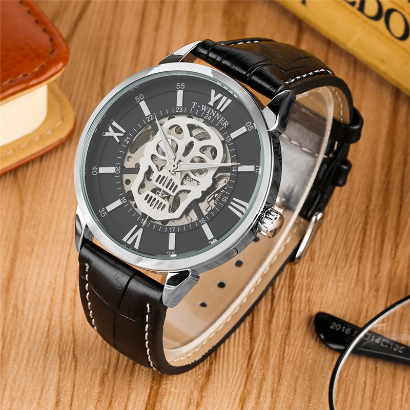 Mechanical Watch Men Automatic-Self-Winding Leather Black Band Mechanical Watch Business Casual Luxury Colck Relogio MasculinoMechanical Watch Men Automatic-Self-Winding Leather Black Band Mechanical Watch Business Casual Luxury Colck Relogio Masculino