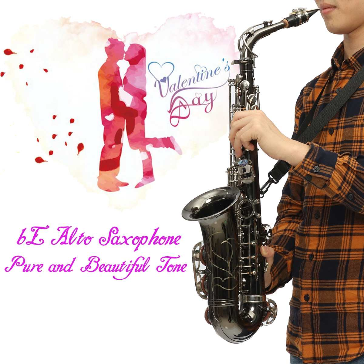 Brass tube body Nickel silver Sax E Flat Alto Saxophone Abalone shell button Professional pure Eb tone For Valentines PlayBrass tube body Nickel silver Sax E Flat Alto Saxophone Abalone shell button Professional pure Eb tone For Valentines Play
