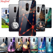 Poco F1 Case For Xiaomi Pocophone F1 6.18 Case Luxury Glass Hard PC Back Cover For Coque Xiaomi Pocophone F1 Case TPU Frame F 1 goterfly glass phone case 6 18 inch pocophone f1 painted protective back cover cases xiaomi pocophone f1 caso pocophon poco f1