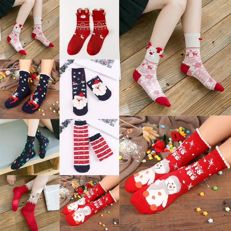 Autumn And Winter New Christmas Stockings Cartoon Elk Cute Women's Socks
