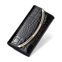 Купить с кэшбэком Fashion Genuine Leather Wallet Women Wallets Luxury Diamonds Clutch Bags Coin Pocket Phone Bag Cartera Mujer Portefeuille Femme
