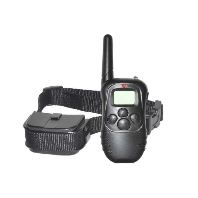 Pet-trainer Electric Dog Training Collar Pet Remote Control 100LV Shock Vibra Rechargeable With LCD Display image