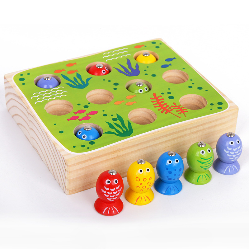 Bright Wooden Magnetic Fishing Toys For Children Funny Catch The Insect Toys For Children Oyuncak Brinquedos Juguetes Brinquedo To Enjoy High Reputation At Home And Abroad Home