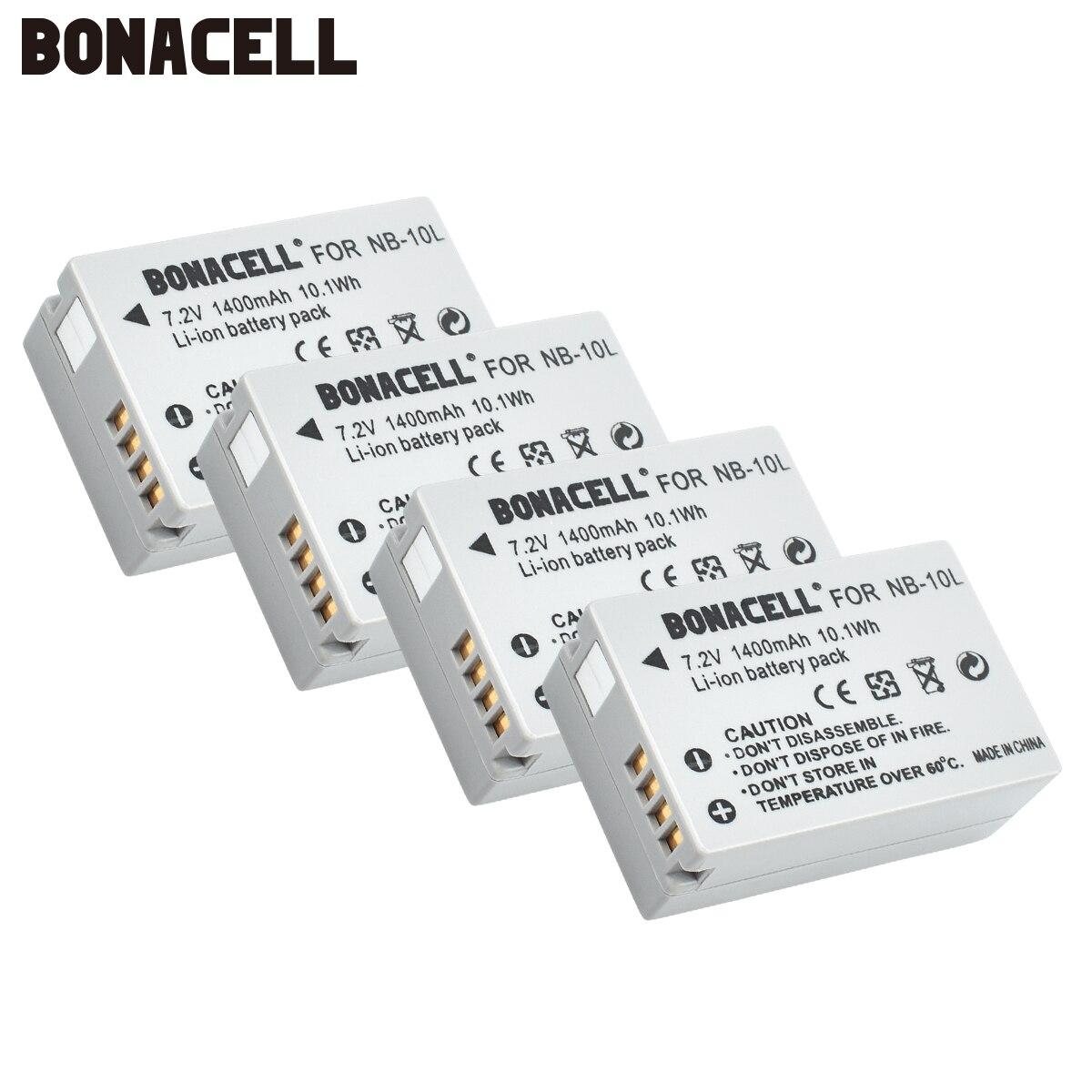 NB-10L NB10L Bonacell 7.2 V 1400 mAh Baterias para Canon NB 10L G1X G15 G16 SX40HS SX50HS SX60HS SX40 SX50 SX60 HS Bateria L10