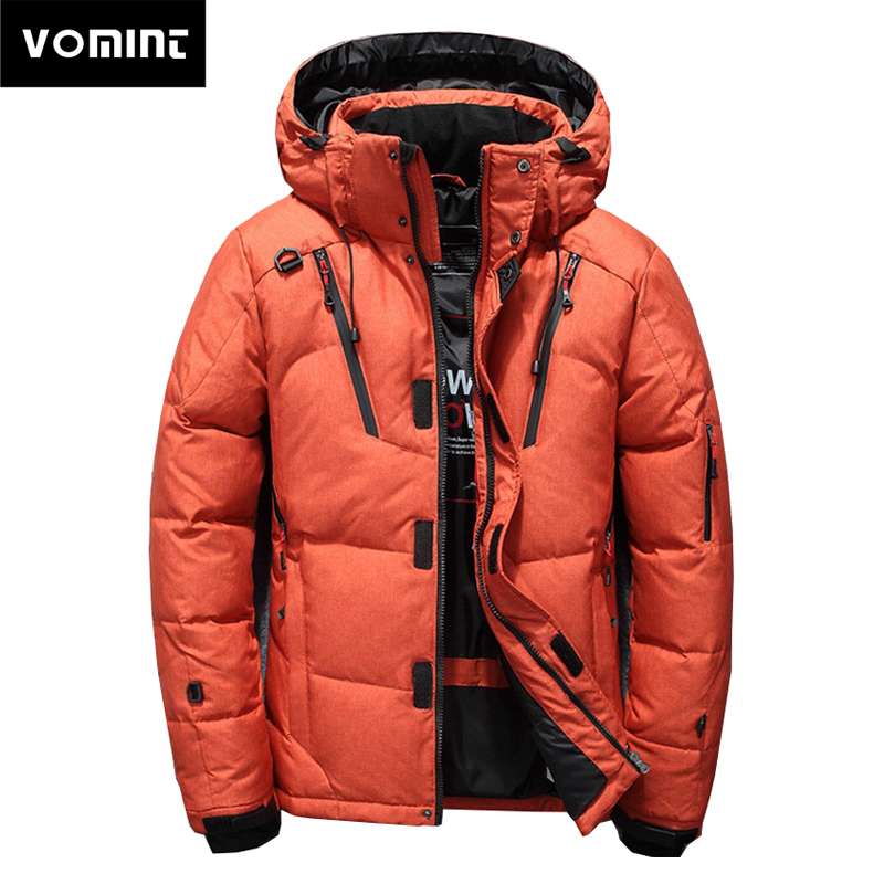 2019 Winter New Men's Down Jackets Outdoor Coats Fresh Color Hoodie Jackets Warm Short Style Coat For Youth Campus