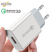 KISSCASE QC 3.0 USB Fast Charger For iPhone X XS Max EU US Plug Wall Charging Charge Adaptor Xiaomi Huawei