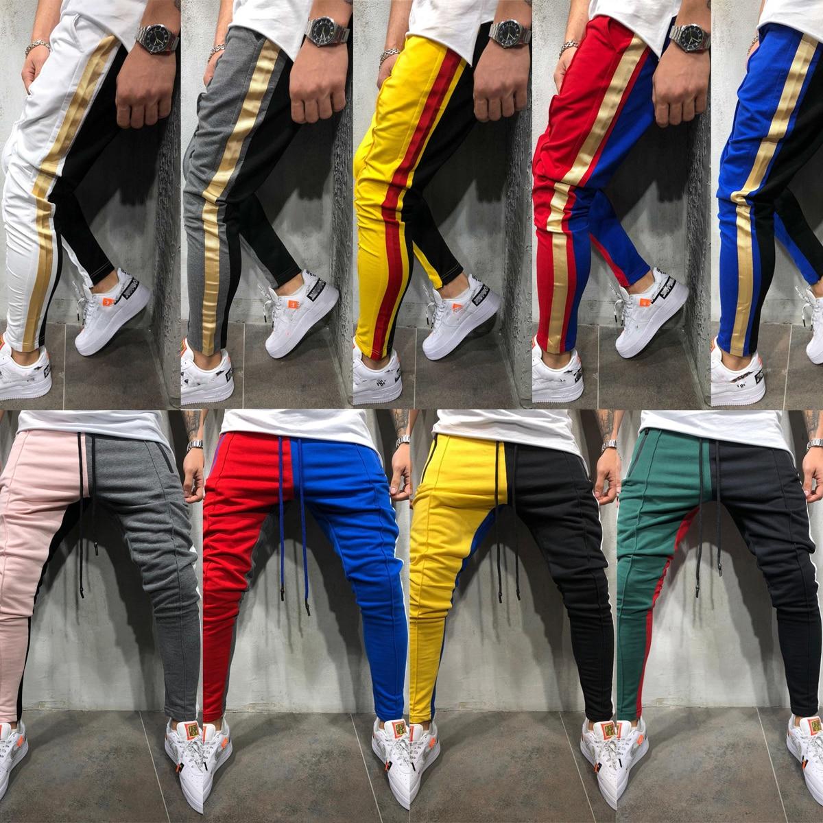 Men Pants Sportswear Fitness Joggerstrousers Gyms Hip-Hop