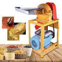 Grain Grinding Machine+6Pcs Mesh Commercial Corn Powder Making Machine Grain Crusher Multifunctional Home Kitchen Appliance New
