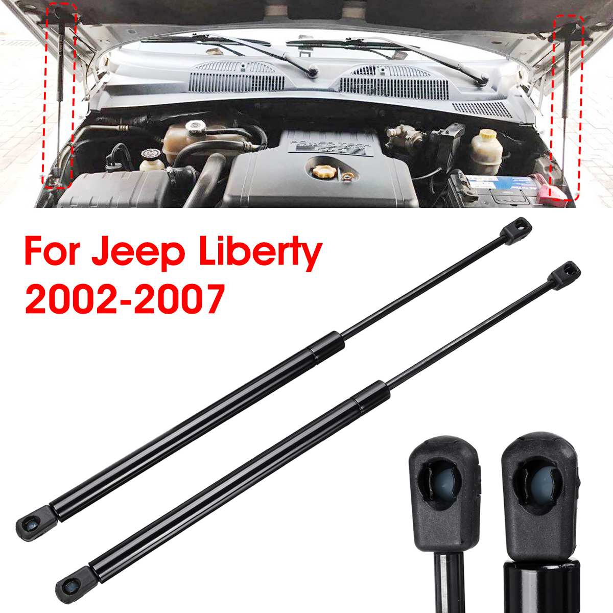 1PC Rear Window Glass Lift Shock Support Gas Spring Strut for Jeep Liberty 02-07