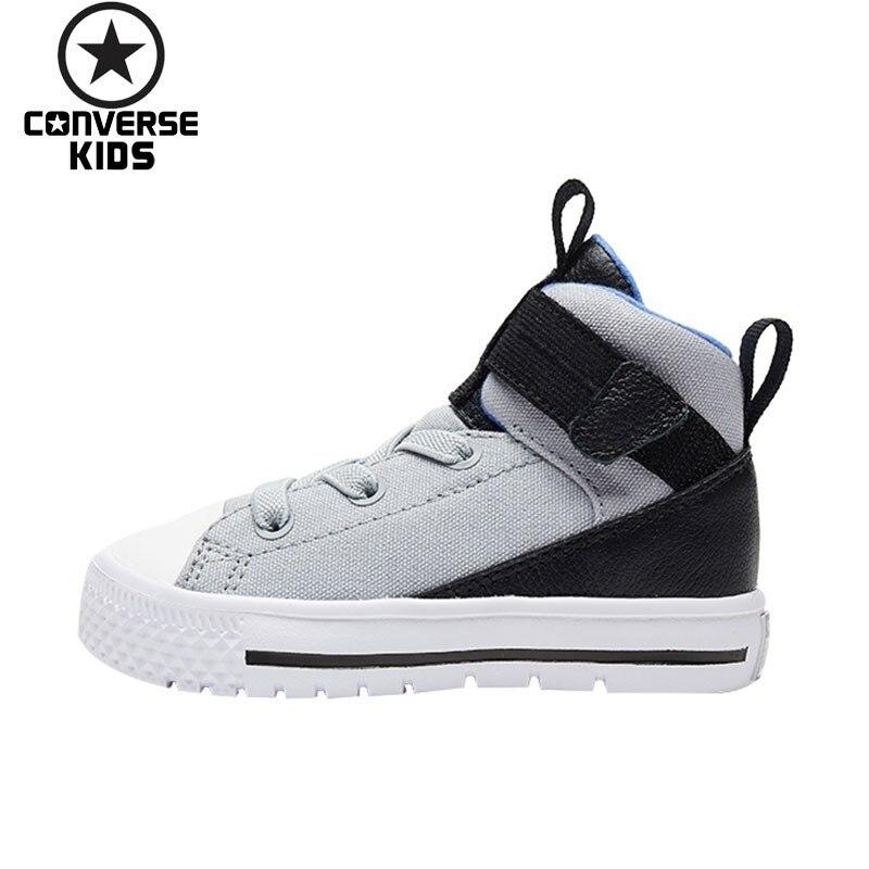 CONVERSE детская обувь Высокая Помощь кроссовки Дети Мужской Для малыша; на каждый день дышащая обувь # 761977C 761978C