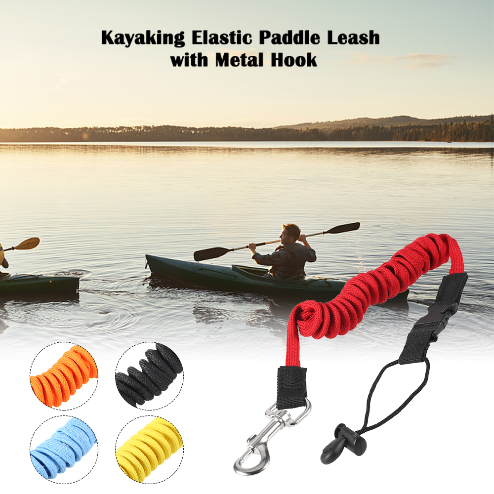 Elastic Paddle Leash Kayak Canoe Safety Fishing Rod Rowing Boats Coiled Lanyard Cord Tie Rope Kayak Accessories Cord Tie Rope