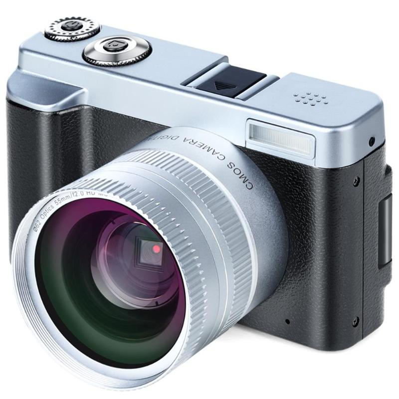 P12 Flip Screen Wireless WIFI Dual Wide Angle Lens Full HD 1080P 24MP 16X Zoom HDMI And Mic Slot Digital Camera Video Recorder