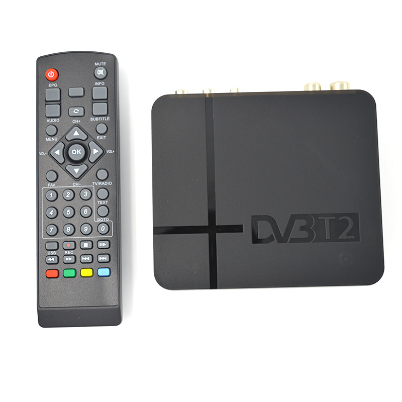 HD DVB-T2 Digital TV Terrestrial Receiver Set-top Box With Multimedia Player H.264/MPEG-2/4 Compatible With DVB-T For TV HDTV