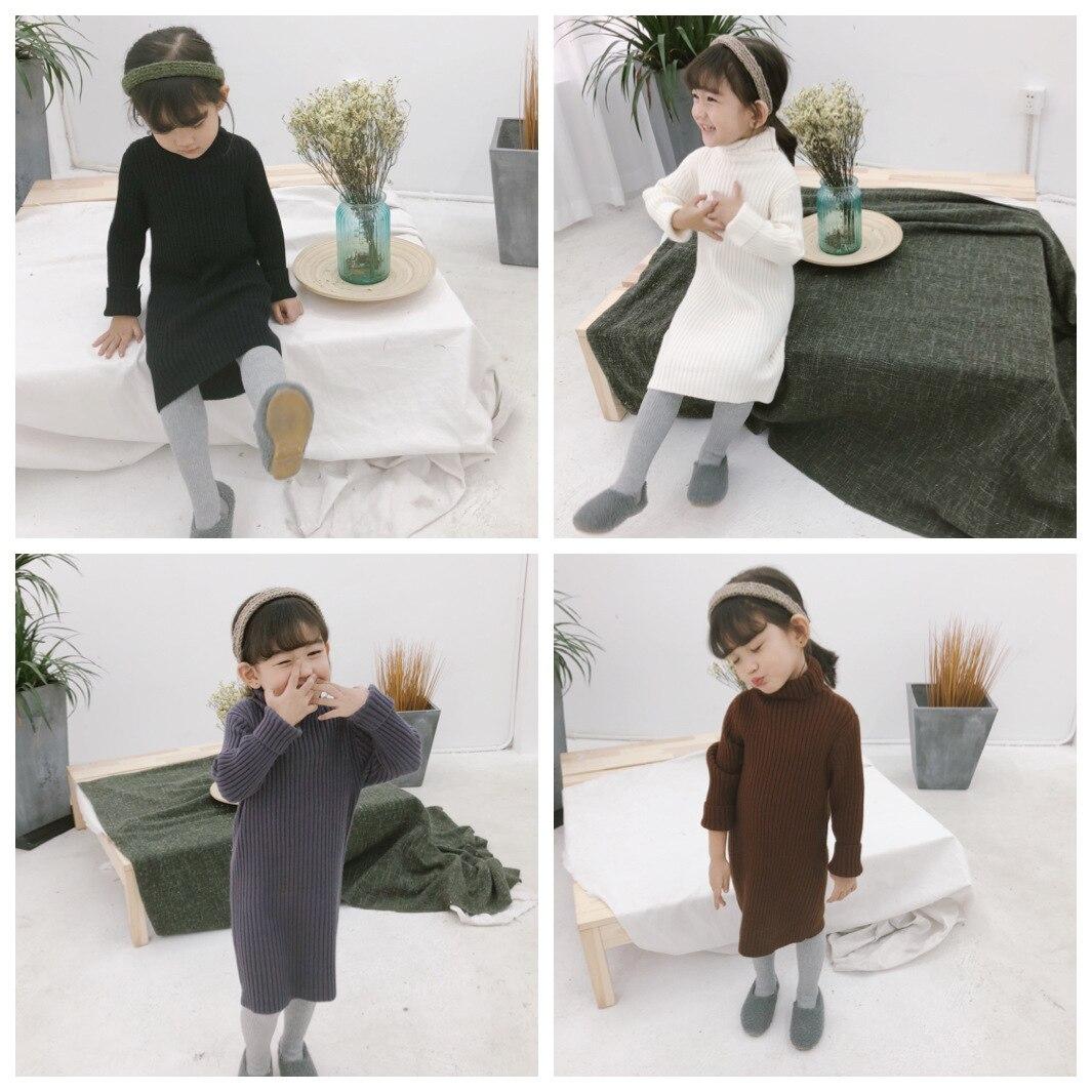 a320056c2 Aliexpress.com   Buy Girls Long Knitted Dress Turtleneck Sweater ...