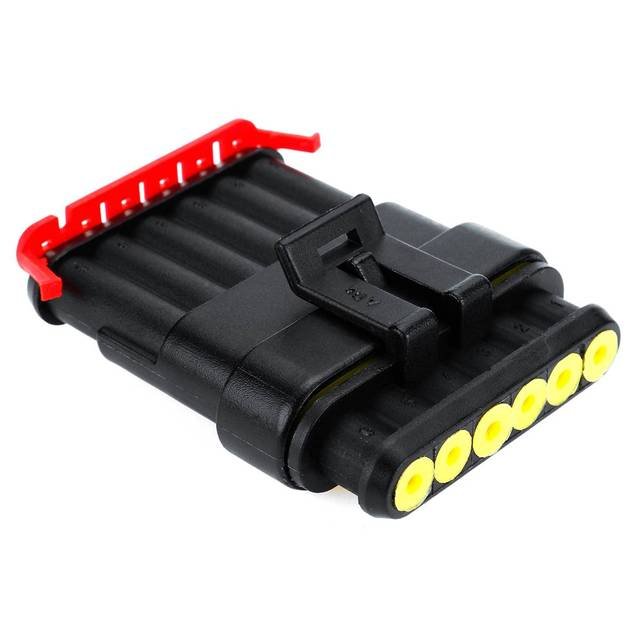 1/2/3/4/5/6 Pin Way Seal Connector Waterproof Electrical Automotive Wire Connector Plug Terminals for Car Female Male AMP Kit
