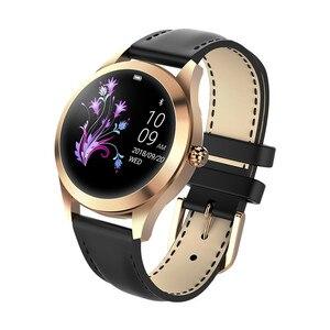 Image 5 - Moda inteligentny zegarek kobiety KW10 IP68 wodoodporna wielu trybów sportowych krokomierz z pomiarem akcji serca bransoletka Fitness dla pani
