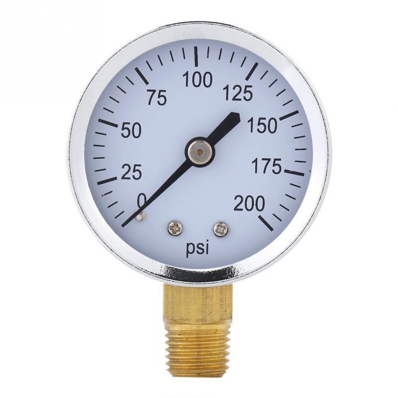 Pressure Measuring Instruments Pressure Gauges Accurate 0-200psi Pressure Gauge Manometer Pressure Measuring Tools For Fuel Air Oil Liquid Water 1/4 Npt Tool Professional