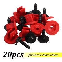 20 шт. крепеж для подноса двигателя защелкивающиеся Зажимы Пряжка Нижняя защита винты зажимы для Ford для C-Max для S-Max