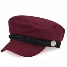 Женская Мягкая восьмиугольная кепка, военный газетчик, Осень-зима, британский стиль, регулируемый теплый подарок, берет, боковой значок, Ретро Шерсть, шапка#05