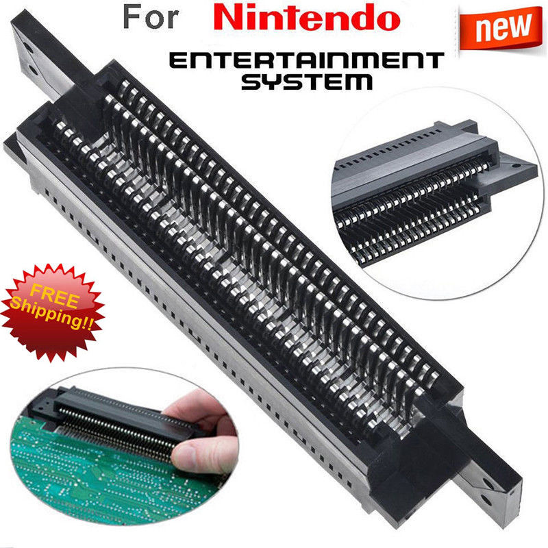 72 Pin Replacement Connector Cartridge Slot For Nintendo Nes 8 Bit System
