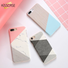 KISSCASE Solid Case For iPhone 6 7 8 Marble Pattern Phone 5s SE 6s Plus Hard Back Cover X XS Max