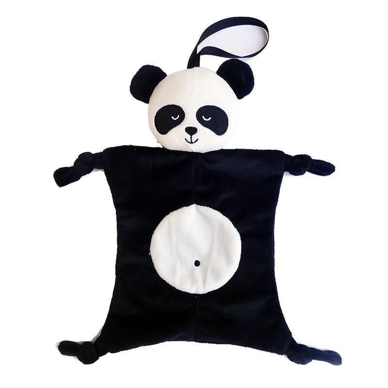 Popular Babies Plush Soothing Comfort Towel Cute Cartoon Animals Shape Panda Rabbit Security Blanket Baby Toys Soothing Towel