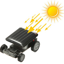 2pcs Car Vehicle Toy DIY Solar Battery Mini Energy Powdered Racer For Child Kids Education Toys