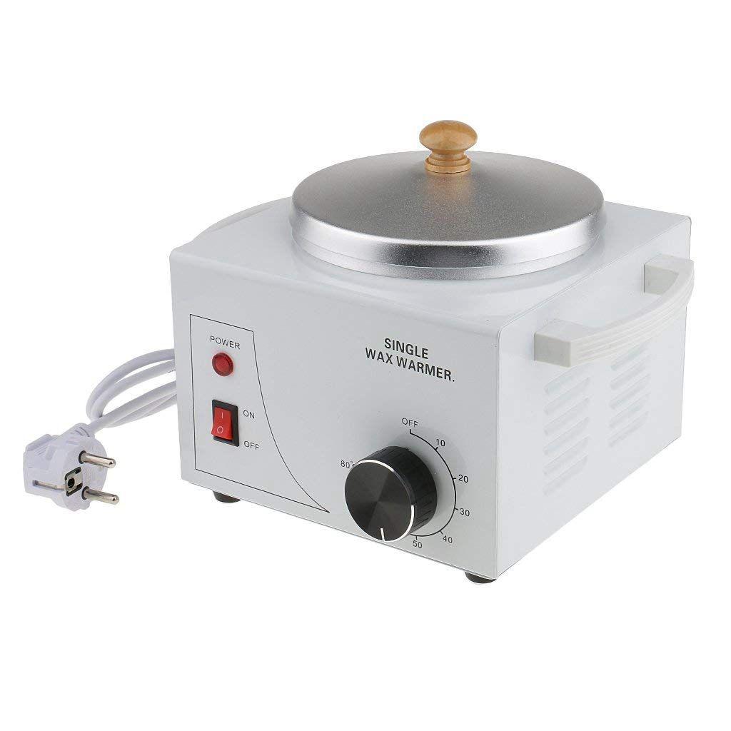 New Wax Heater Single Pot Metallic Electric Waxing Machine Hot Waxing Paraffin Waxing For Professional Salon EU Plug
