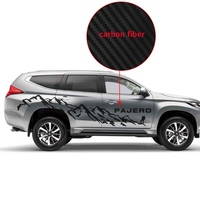 customize for mitsubishi pajero sport accessories modified stickers 2pc car side body mountains styling graphic vinyl decals