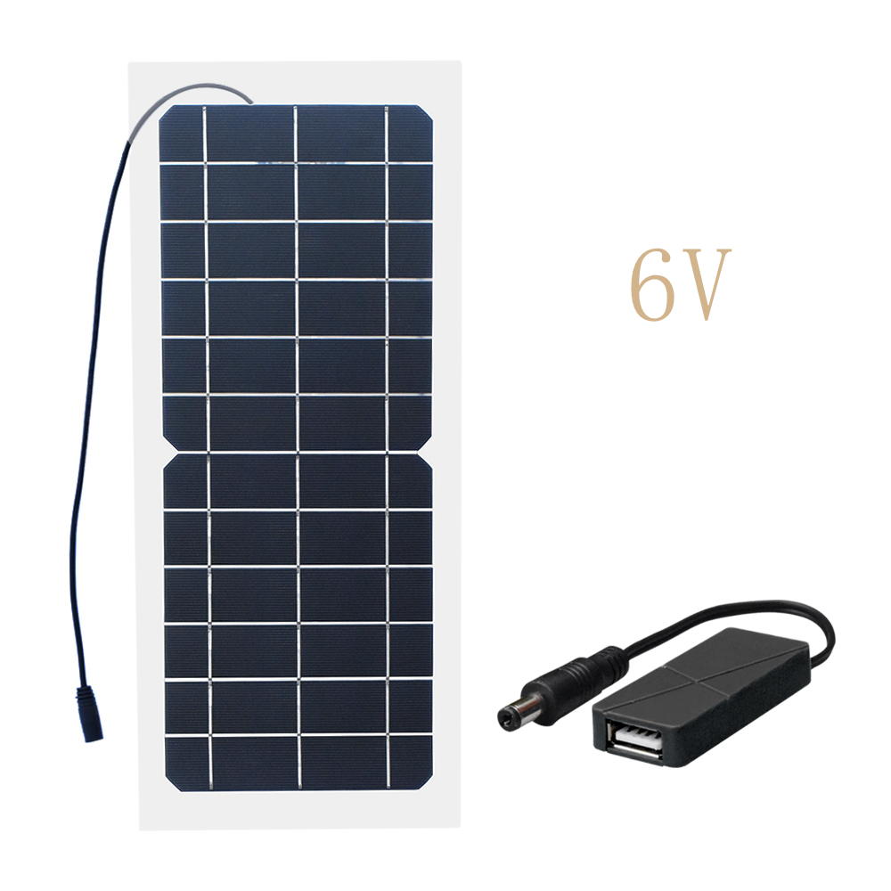 Xinpuguang 10W 18V/12V/6V Solar Panel Semi Flexible Cable Monocrystalline Cells DIY Module USB Connector Charger DIY Kit Outdoor-in Solar Cells from Consumer Electronics