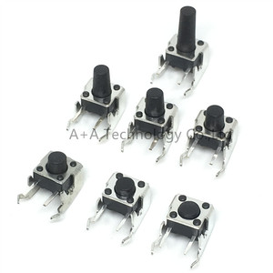 PCB Momentary Tactile Tact Push Button Switch Right Angle With stent 6*6*4.3/5/6/7/8/9/12mm 6x6x4.3/5/6/7/8/9/12 MM (20PCS/)(China)