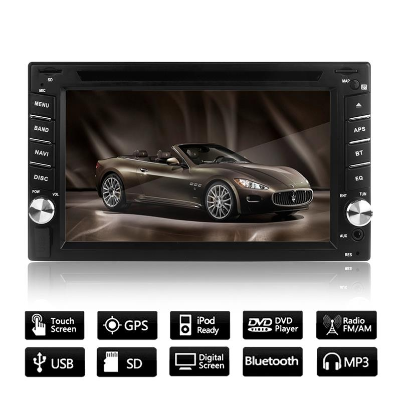 6.2 HD Car CD DVD Player Touch Screen Radio Stereo GPS Navigation Bluetooth MP3 MP4 USB SD Rearview Camera In Dash  + Camer6.2 HD Car CD DVD Player Touch Screen Radio Stereo GPS Navigation Bluetooth MP3 MP4 USB SD Rearview Camera In Dash  + Camer