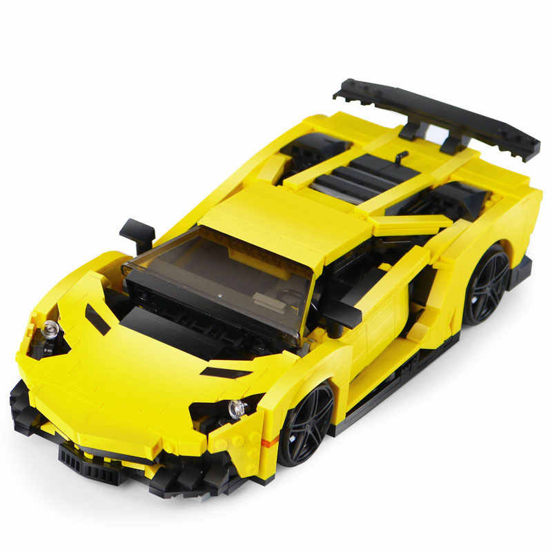 Compatible legoinglys Creative The Yellow lightning and GALLON super car Model Assemble Bricks Building Blocks Toys For Children
